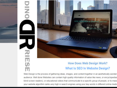 Dino Riese | Web Designer & Graphic Artist | SEO Specialist | Long Island, New York City, Broklyn, Queens | Phone: 516.286.3583 | DinoRiese@gmail.com